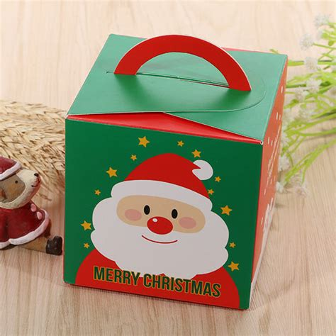 merry christmas gift boxes  handle apple boxbiscuit boxes pcslot  gift bags