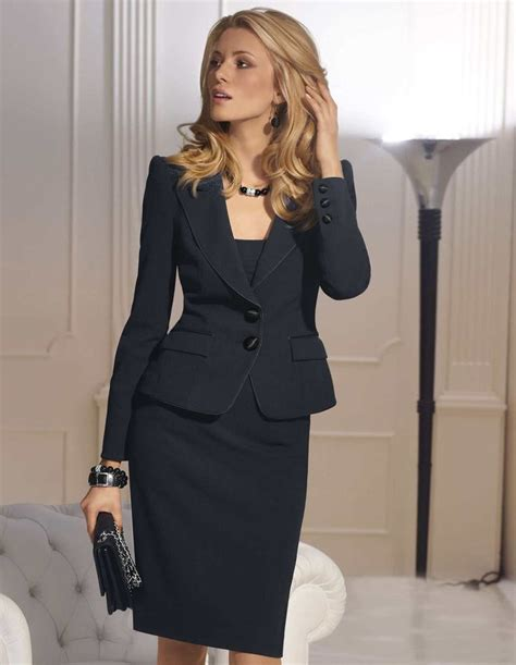black skirt suit professional style a
