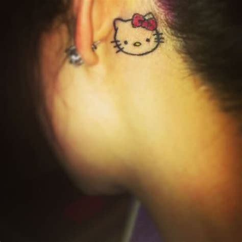 small hello kitty tattoos the ear tattoos askideas