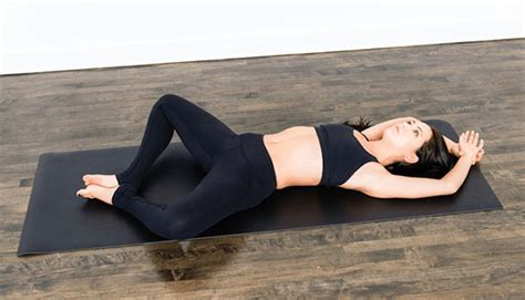 reclining butterfly pose yoga for winter sport lovers build balance and strength