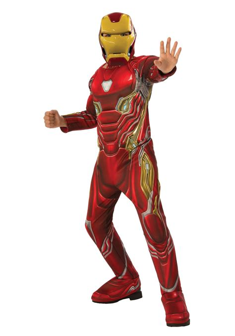 marvel infinity war child deluxe iron man costume