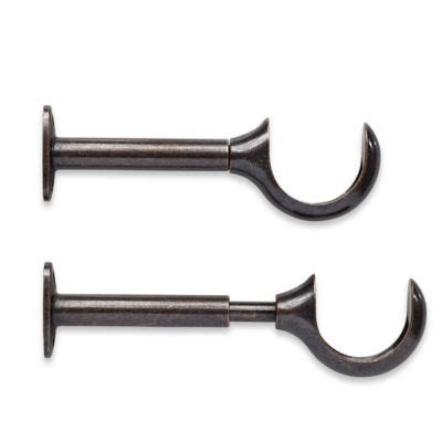 bronze curtain rod brackets buy curtain rod brackets from bed bath beyond