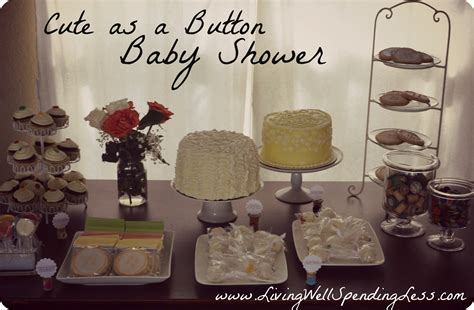 as a button baby shower diy budget baby shower ideas