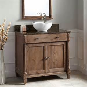 sinks vanity 36 quot neeson vessel sink vanity rustic brown bathroom