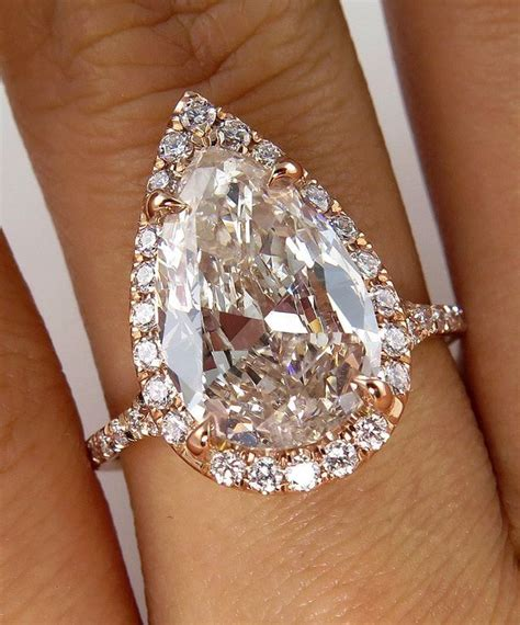 pin by hayley louise angus on rose gold pear diamond
