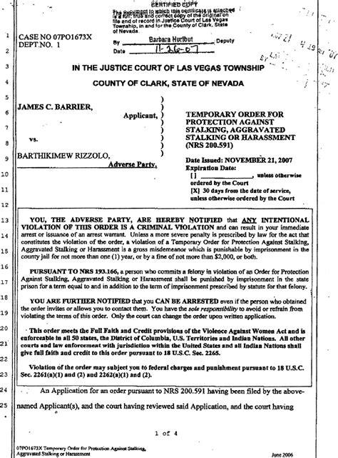 restraining order template rick porrellos americanmafia steve miller inside vegas