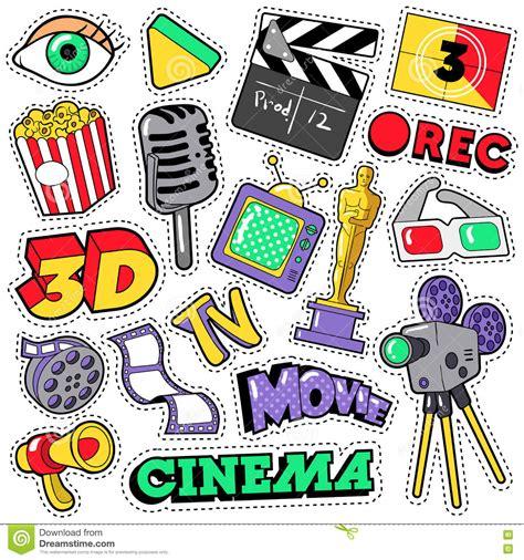 Stiker Cione cool retro television set vector illustration