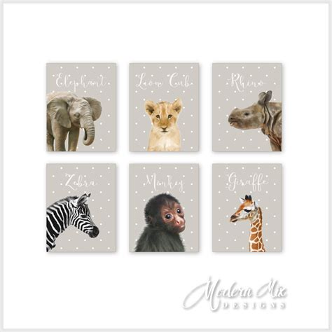 Safari Animal Print Safari Nursery Decor Safari Nursery Art Jungle Animal Nursery Decor