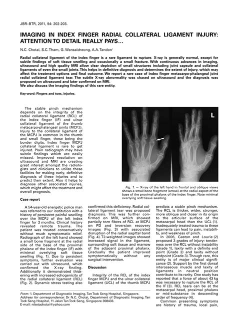 Pdf Index Finger by Imaging In Index Finger Radial Collateral Pdf