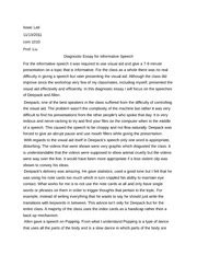 Diagnostic Essay by Diagnostic Essay Info Speech Isaac Lati 1010 Prof Liu Diagnostic Essay For Informative