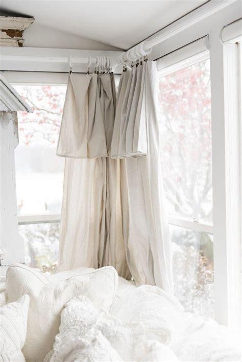 white drop cloth curtains diy drop cloth curtains in the sunroom decor windows