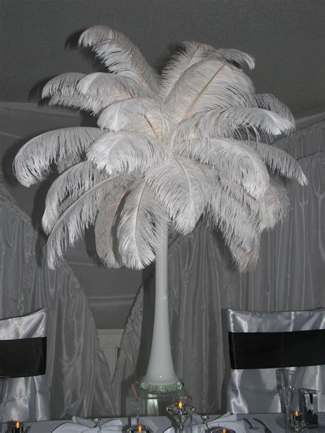 ostrich feather table centerpieces ostrich feather centerpiece decorations flickr photo
