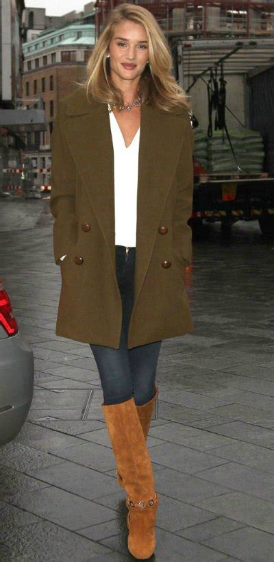 Donald Receives A Pair Of Rosie by The To Rosie Huntington Whiteley S Duty Winter Style