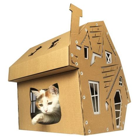 cardboard cat house halloween cardboard cat house focus pawcus brought to you