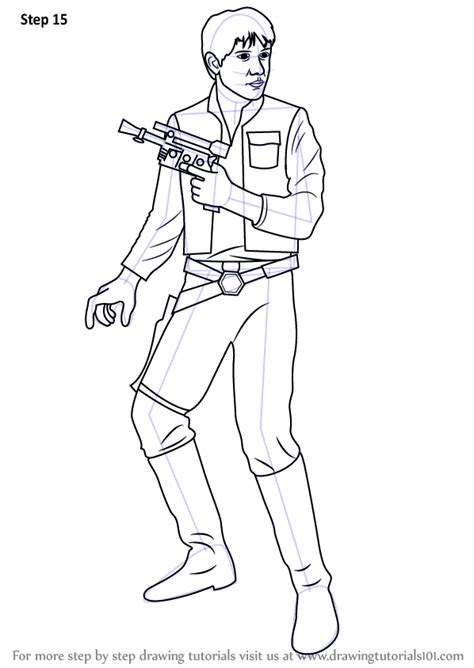 coloring pages han learn how to draw han from wars wars step