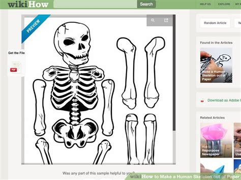 Make Your Own Paper Skeleton - 9 printable skeleton crafts printables 4