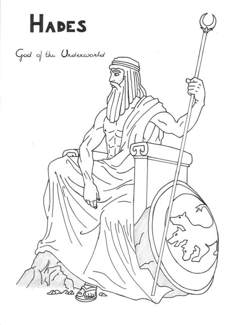 coloring book page drawing hades greek mythology drawing www pixshark com images