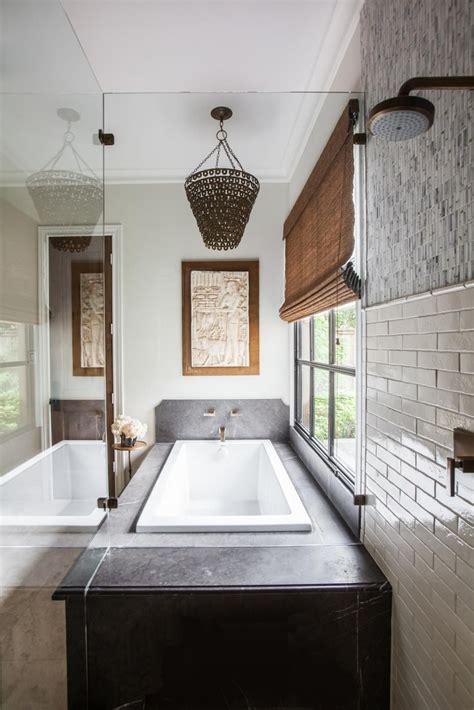 white master bath  gray marble countertop  tub
