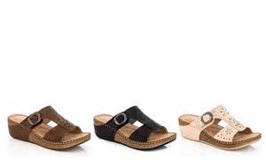 godiva comfort wedge sandal groupon goods