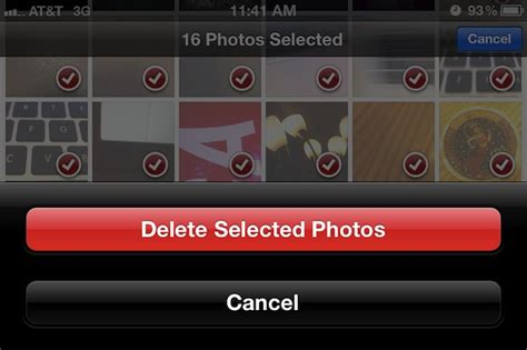 how to erase from iphone delete all photos from iphone at once