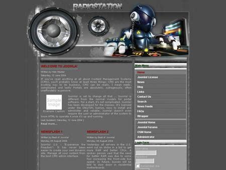 Free Joomla Template Radiostation Ham Radio Website Templates Free