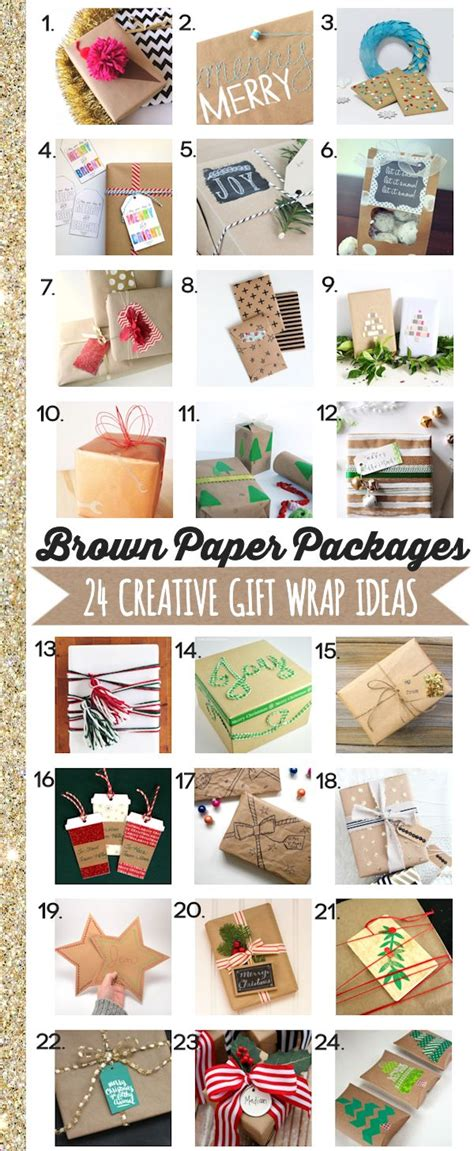 Unique Gift Idea - 24 gift wrapping ideas c r a f t