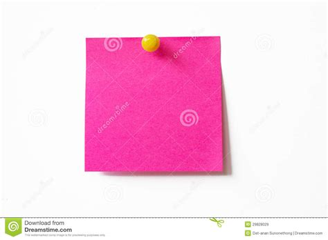 pink sticky note royalty free stock images image 29828029
