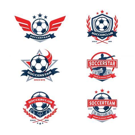 Emblem Sports Bahan Besi soccer club badge set football team emblem vector premium