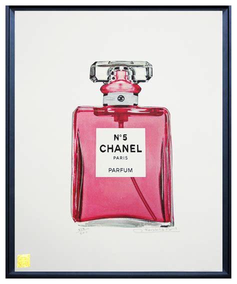 Parfum Chanel Pink chanel no 5 perfume print pink 25 quot x33