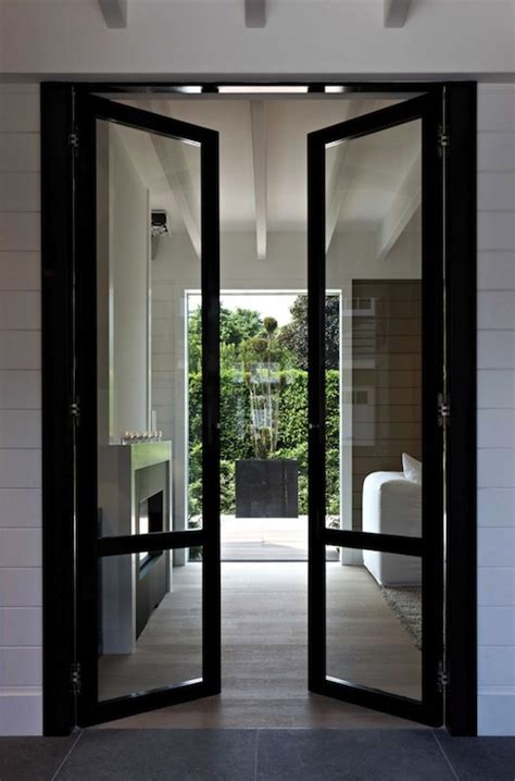Living Room Glazed Doors Black Glass Doors Contemporary Living Room Mi Casa