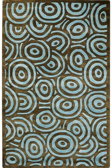 Brown And Aqua Area Rugs by Echo I Area Rugs Aqua And Brown Circles On