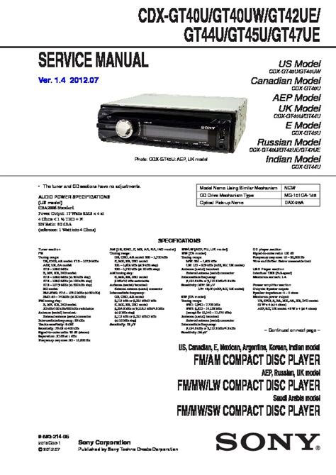 sony cdx gt35u wiring diagram 29 wiring diagram images