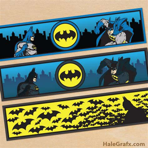 printable batman bookmarks free printable batman water bottle labels