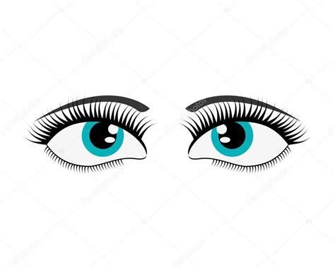 imagenes de ojos bonitos animados icono de ojos de dibujos animados mujer vector de stock