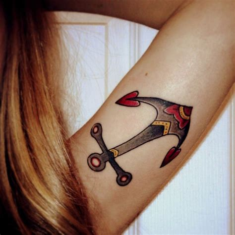 tattoo old school signification collier ancre de pictures to pin on pinterest tattooskid