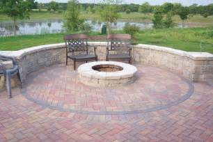 Brick Firepit Pit Is A Accent For Your Backyard