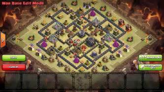 Best Th9 War Bases Anti 2 Star With Bomb Tower 2016 Cocbases » Home Design 2017