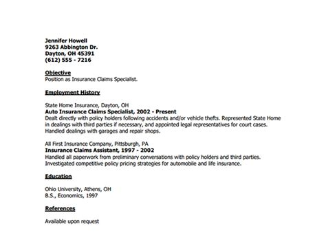cover letter template  insurance adjuster template