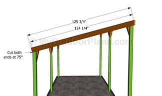 Shed Roof Carport Plans by Building The Rafters Betong Wooden