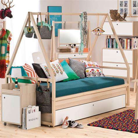 spot kids tipi bed  trolley  trundle drawer