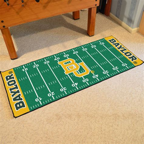 football field rug for baylor bears football field runner rug