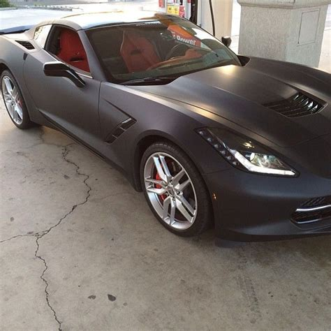 corvette stingray matte black pic 2014 corvette stingray wrapped in matte black