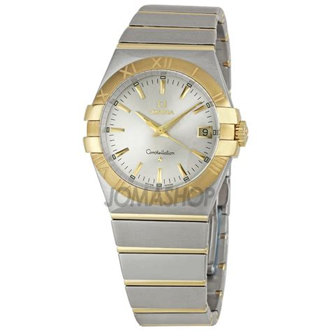 Jual Jam Tangan Omega Square Silver And Gold Date Rubber Murah omega constellation 123 20 35 60 02 002