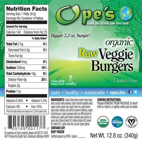 Garden Burger Calories by Soy Burger Nutrition Facts