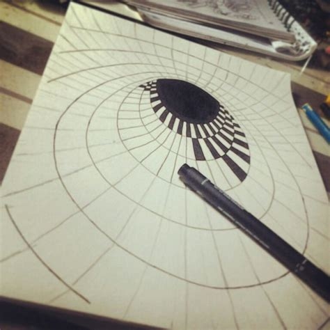 How To Make A 3d Drawing On Paper - best 25 optical illusions drawings ideas on