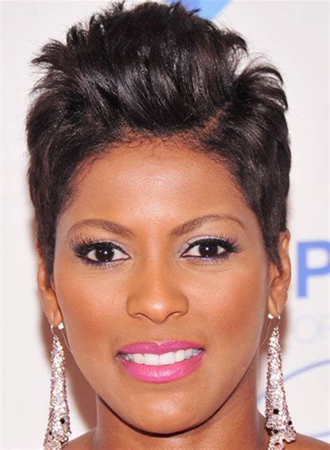 very short ladies hair with weight on crown inspiring short haircut with messy curly crown african