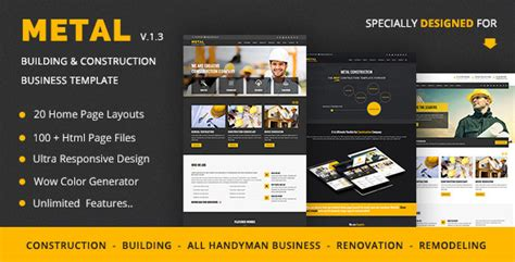 Construction Business Website Templates Free Download Metal Mobile Friendly Building Free Mobile Friendly Website Templates