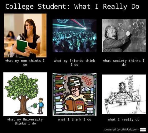 What I Really Do Meme - college isn t all fun and games zoutalk
