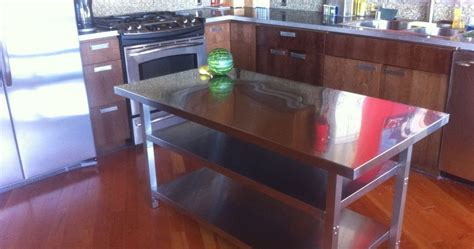steel kitchen island stainless steel kitchen island afreakatheart