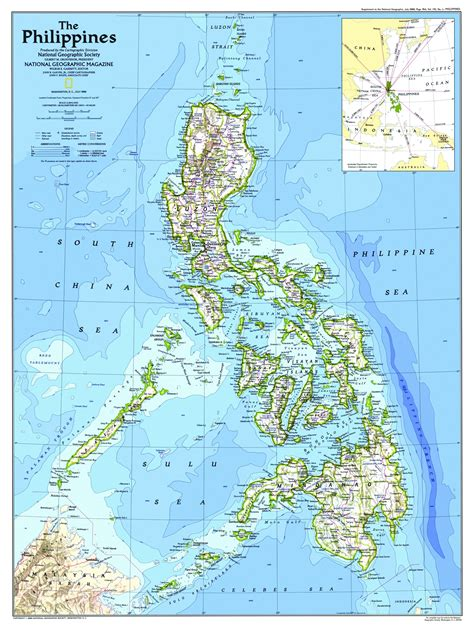 map usa to philippines national geographic philippines map 1986 maps